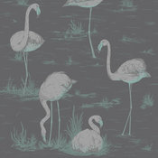 Contemporary Restyled Flamingos 95/8048 Wallpaper