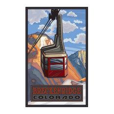 "Art of Place - Paul A. Lanquist Breckenridge Colorado Tram Art Print, 24""x36"" - Fine Art Prints"