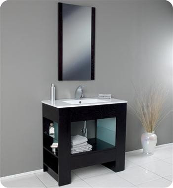 fresca egoista 36 x 18 modern bathroom vanity fvn3005wg bathroom vanities and sink consoles