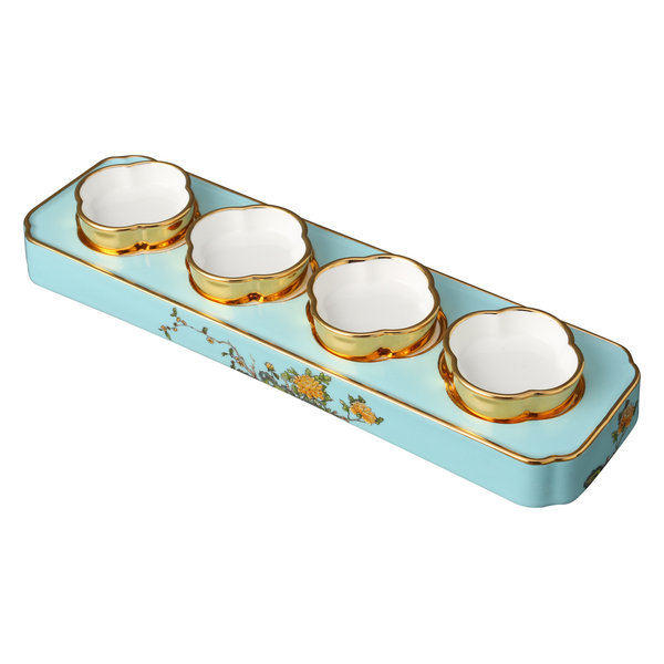 Lady Turquoia Appetizer Set, 12.75
