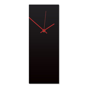 Blackout Red Clock, Modern Metal Wall Clock, Minimalist ...