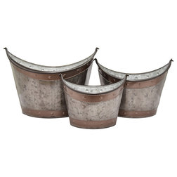 Farmhouse Outdoor Pots And Planters by Three Hands Corp