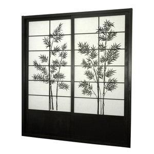 7 ft. Tall Bamboo Tree Shoji Sliding Door Kit (Honey)
