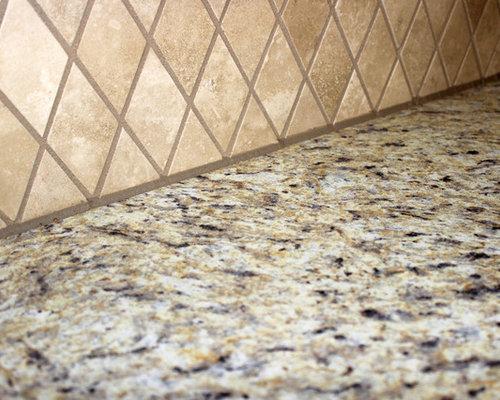 Santa Cecilia Formica Countertops And Tile Backsplash