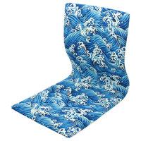 Tatami Meditation Backrest Chair, Blue Wave