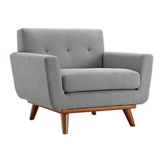 Engage Upholstered Fabric Armchair, Expectation Gray