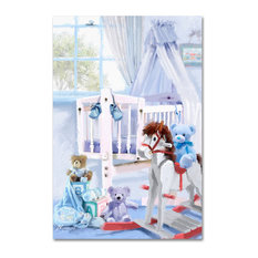 "The Macneil Studio 'Baby Boy's Cot' Canvas Art, 12"" x 19"""
