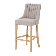 Nico Bar Stool, Beige Linen