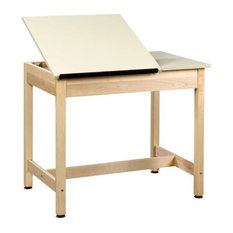 Alvin and Company - One Piece Drawing Table, Beige Finish - Drafting Tables