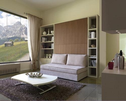 Letto a scomparsa con divano contenitore 3 posti letto C05 Molteni