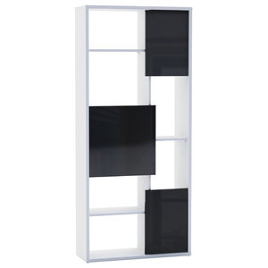 Trend Bookcase, Pearl White and Black