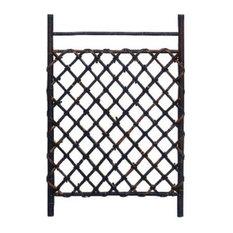 Oriental Furniture - Dark Stained Japanese Style Garden Trellis - Garden Trellises