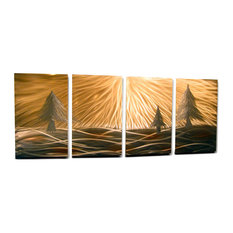 Metal Wall Art Decor Abstract Contemporary Modern Sculpture Hanging -  3 Pines