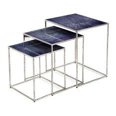Maci Rectangular Nesting Tables, Cobalt