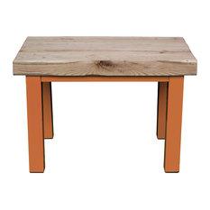 Small Natural Oak Dining Table, Deep Orange