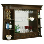 Half Barrel Wall Cabinet With Oak Top - Rustic - Wine And Bar Cabinets - by Napa East Collection