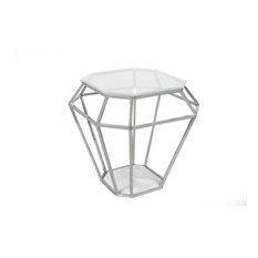 Fashion N You   H 1187, Nickel, Modern   Side Tables And End
