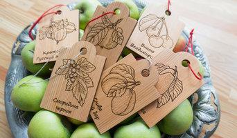 Декоративные таблички из лиственницы