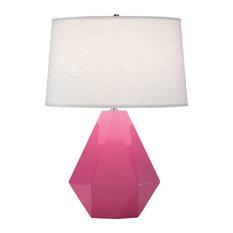 Robert Abbey Delta Table Lamp, Schiaparelli Pink