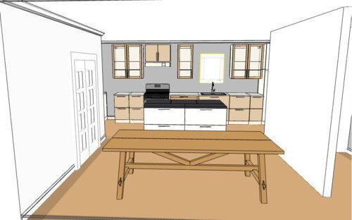 Long Narrow Open Kitchen Layout Help Please