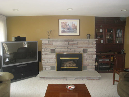 We Would Also Like To Install A Tv Above The Fireplace Of Course New Furniture Be Purchased