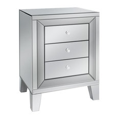 1st Avenue - Eltham 3-Drawer Mirrored Side Table - Nightstands and Bedside Tables
