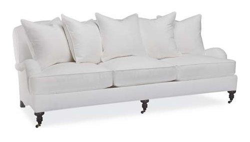 Genial White Linen Sofa