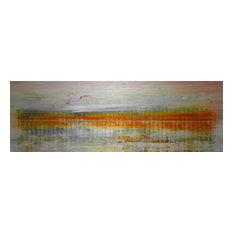 """Linear Birds"" Fine Art Canvas Print, 60""x20"""