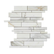 "10""x12.63"" Calacatta Gold Italian Calcutta Marble Polished Random Strip Tile"