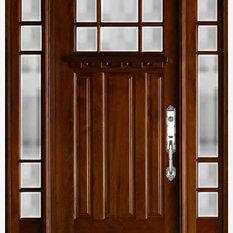 US Door \u0026Window - Exterior Front Entry Wood Door M36 12\