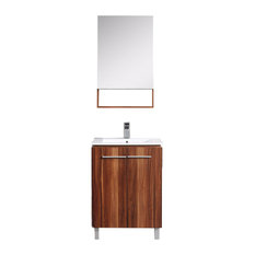 Greenpoint Collection Vanity With Medicine Cabinet, Black Walnut, 24""