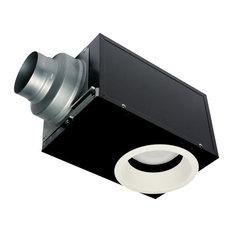 Oci Panasonic Whisperrecessed 0 7 Sone 80 Cfm Bath Fan With Light Black