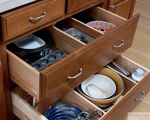 KraftMaid: Adjustable Drawer Dividers   Kitchen Drawer Organizers