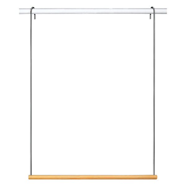 Genial Lynk Double Hang Closet Rod Extender, Chrome And Wood