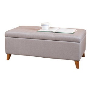 Brilliant Cecil Ottoman Light Gray Transitional Footstools And Gmtry Best Dining Table And Chair Ideas Images Gmtryco