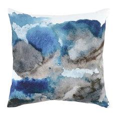 """Laguna 100% Cotton 20"""" Throw Pillow, Blue by Kosas Home"""