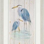 """Blue Heron Duo Artwork, 27""""x42"""""""