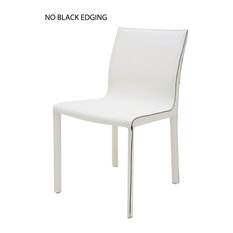 Colter Leather Dining Chair, White
