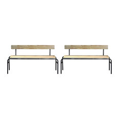 Lexington Wooden Benches, Set of 2