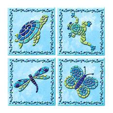 Confetti Peel and Stick Tiles, 4-Piece Set