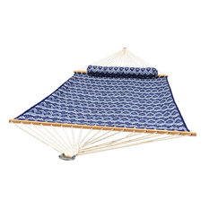 Quilted Hammock - Deluxe, Blue and White Patterns