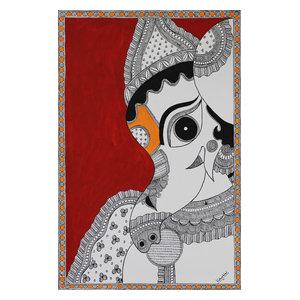 Ganesha Bala Ganapathi Madhubani Painting