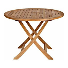 "Cambridge Teak 40"" Round Folding Table"