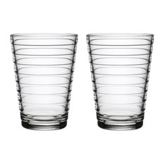 Aino Aalto Tumbler Collection, Clear Set of 2, 11 oz