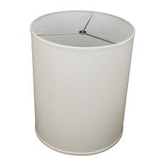 """Fenchel Shades, 14""""x14""""x18"""" Spider Attachment Drum Lamp Shade, Linen"""