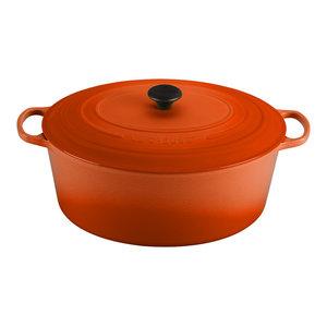 Le Creuset Signature Flame Enameled Cast Iron 15.5 Quart Goose Pot