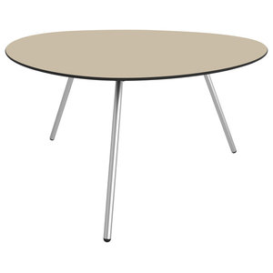 Low Dine-Alowha Dining Table, Sand, Stainless Steel Frame