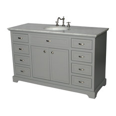 56-inch Contemporary Style Single Sink Bathroom Vanity Model 2422-56 GK