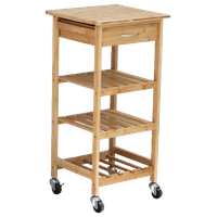Oceanstar Bamboo Kitchen Trolley