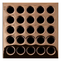 Ebbe Square Shower Drain Grates PVD, Polished Copper